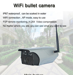 Wholesale Mps Water - T7A 960P wireless camera waterproof can be soaked in water wifi connect H.264 video compression 32bit CMOS AT