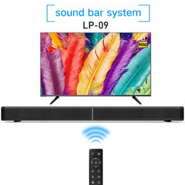 Wholesale Tv Remote Plastic - Soundbar LP-09 Bluetooth Speaker 2.0 Channel Wired and Wireless Bluetooth TV Soundbar Audio 31.5 Inch 40W Built-In Subwoofer Remote Control