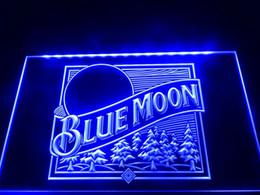 Luci al neon blu online-LS353-b Blue Moon Beer Bar Pub Logo Neon Light Sign Decor Dropshipping di spedizione all'ingrosso 8 colori tra cui scegliere