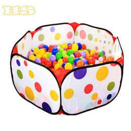 Wholesale Indoor Kids Pool - Wholesale-2015 Kids portable folding toy Tent Pool Ball Games House Folding Baby Tent outdoor indoor baby Oceans Balls Pool