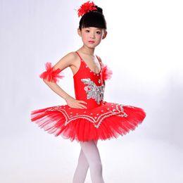 Wholesale Kids Gymnastics Leotards - Kids Dancewear Ballet Clothes Children Performance Costume Gymnastics Dance Dress Leotard Skate Professional Ballet Tutus UD0020