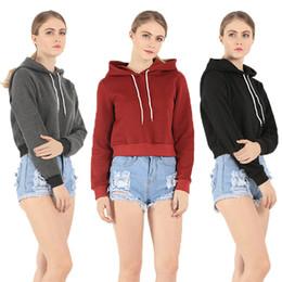 Wholesale Hoody Plus Size Women - Autumn Women Sport Hoody Swearshirt Casual Solid Long Sleeve Hooded Top Hoodies Sweatshirt Sale Plus size