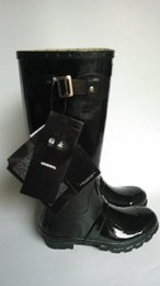 Wholesale High Heels Men Boot - Men Women Rain Boots Fashion Knee-high Rainboots Rubber Flat Hill Boots 11 Colors Outdoor Water Shoes