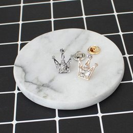 Wholesale Cheap Crown Pins - Wholesale- Rhinestones Crystal Mini Little Crown Men And Women Brooch, Korean Version Of Retro Suit Crystal Collar Accessories Cheap-brooch
