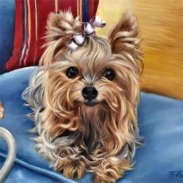Wholesale Painted Dogs - New Diamond Embroidery needlework diy Diamond painting Cross Stitch Kits animal cute dogs full round diamond mosaic Room Decor yx0257