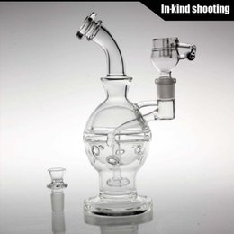 Wholesale Faberge Gifts - New Glass bong fab egg Bongs heady Faberge Egg Water pipe recycler oil rig dabs glass bubbler waterpipes percolator