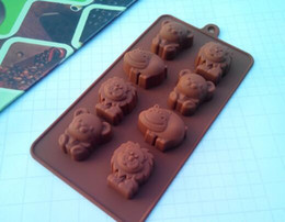 bear shaped chocolate Coupons - Fashion Hot Hippo Lion Bear Shape Silicone Mold, Jelly, Chocolate, Soap ,Cake Decorating DIY Kitchenware ,Bakeware