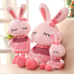 """Wholesale Lovely Girls Gift - """"New Arrivals"""" Love Rabbit Plush Toy Doll Lovely & Cute Great Brithday Gift 45CM 1PCS Free Shipping!!"""