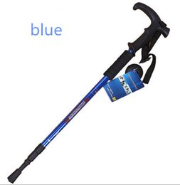 Wholesale Walking Stick Crutches - new style climbing sticks folding folding stick walking hiking crutches walking sticks walking equipment outdoor equipment