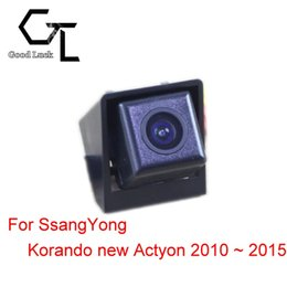 Wholesale black backup - For Ssangyong Korando new Actyon 2010 ~ 2015 Reserved hole Wireless Car Auto Reverse Backup CCD HD Night Vision Rear View Camera