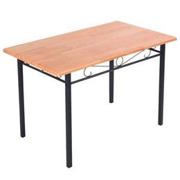 Wholesale Steel Framed Furniture - Steel Frame Dining Table Kitchen Modern Furniture Bistro Home Durable Wood New