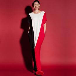 Wholesale Boho Dress Large - 2017 casual dresses Boho style dress dress ladies shoulder beach summer hit color casual dress large size MM
