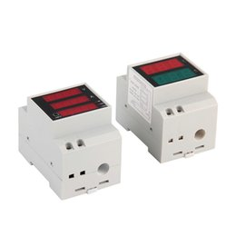 Wholesale Multi Meter Ac - Wholesale-1pc D52-2048 AC 80-300V LCD Digitial Multi-Functional Meter Voltmeter Ammeter Brand New