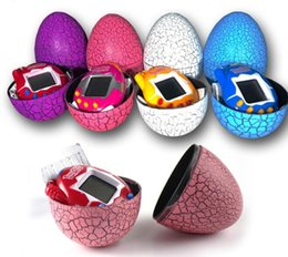 Wholesale Egg Keychain - Tamagotchi Tumbler Toy Perfect For Children Birthday Gift Dinosaur Egg Virtual Pets on a Keychain Digital Pet Electronic Game