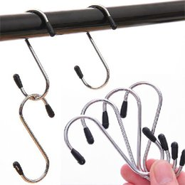Wholesale Hanger Clasp - New Arrival 4pcs lot S Shaped Hooks Stainless Steel Hanger Clasp Rack For Clothes Pot Pan Kitchen Hooks Clasp Holder