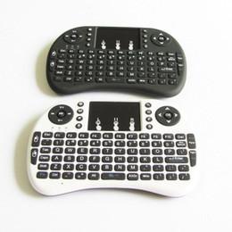 clavier pour apple tv Promotion Rii I8 Mini-clavier sans fil Rétro-éclairage Souris multi-média Touchpad à distance pour ordinateur de poche TouchPad MXQ Pro T95 M8S Plus S912 Décodeur TV Double Design Unique