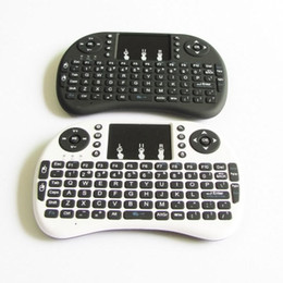 Wholesale Lenovo Mini Keyboard - Rii I8 Wireless Backlight Mini Keyboard Air Mouse Multi Media Remote Touchpad Handheld MXQ Pro T95 M8S Plus S912 TV Box Unique Double Design