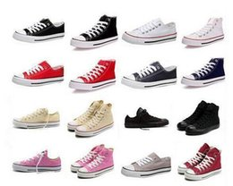 Wholesale Renben Shoes - 2016 High-quality RENBEN Classic Low-Top & High-Top canvas shoes sneaker Men's  Women's canvas shoes Size EU35-46 retail   dropshipping
