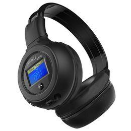 Wholesale Bluetooth Headset Display - Wholesale-LED Display Screen Wireless Stereo Bluetooth Headset Headphone Handsfree Earphone With Mic, FM Radio, TF Card Slot
