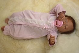 Wholesale Life Like Silicone Dolls - 50cm 20inch Life like cute Newborn Handmade Reborn Baby Doll Girl Soft Gentle Touch Cloth Body Soft Vinyl silicone Magnetic pacifier