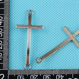Wholesale Vintage Jewelry Connector - Connector Cross Charms Pendant Vintage Silver For Fashion Jewelry Making Bracelet 100PCS Handcraft Accessories DIY Gifts W08