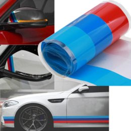 Wholesale White Motorcycle Decals - Red Blue White 2M Car Motorcycle Decor Reflective Tape Vinyl Roll Sticker Decal Fit Honda Toyota BMW Hyundai VW LADA Kia Mazda