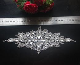 décoration de ceinture de mariage Promotion 1 pcs Deluxe Strass Acrylique Garniture Applique Cristal Mariée Ceinture Ceinture Pour Mariage Robe De Mariée Sash De Mariage Décoration