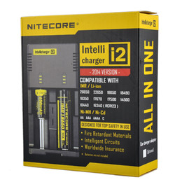 Wholesale Best Universal Battery Charger - Best Hottest Nitecore I2 Battery Charger Universal Intelligent Charger For Sony VTC5 VTC4 VTC3 30A AW 18350 Battery