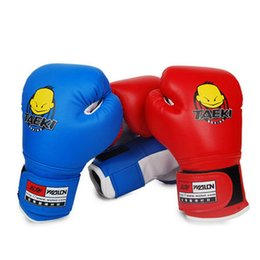 Wholesale Cartoon Train Box - PU Children Kids Child Cartoon Sparring Kick Boxing Gloves Training Age 4-12 years Boxeo