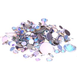 Wholesale Nail Art 5mm - Crystal AB Acrylic Rhinestones For 3D Nails Art 4mm 5mm 6mm 10mm And Mixed Sizes Glue On Stones DIY Crafts Designs Decorations