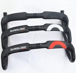 Wholesale Gloss Carbon Fiber - 2016 design full carbon handlebar carbon fiber road bike handlebars bent bar 3k gloss finish 40 42 44cm only 200g inner cable