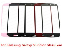 Wholesale Screen Replacement For S3 - For Samsung Galaxy S3 SIII i9300 Colorful Good quality New Outer Replacement Screen front cover case Glass Lens for phone refurbish repair