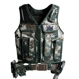 Wholesale Tactical Combat Vest Paintball - High quality Tactical Vest Paintball Army Gear outdoor paintball Airsoft protective vest new Combat Tactical Vest
