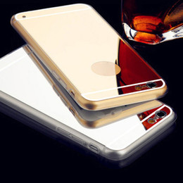 Wholesale Cheap Fashion Phone Cases - Cheap Fashion Cell Phone Cases Stylish Design Mirror Phone Cover for for Iphone 7 7plus 6 6S 06
