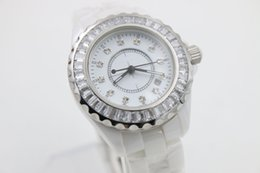 Wholesale Ceramic Clocks - Special Sale Quartz Watch Women Ceramic Case Milky Dial Ceamic Band Female Clock Montre Homme