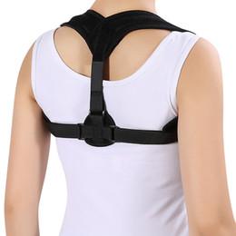 Wholesale Shoulder Brace Support Posture Correction - Adjustable Back Posture Corrector Clavicle Correction Belt Shoulder Brace Upper Back Posture Correction Corset Spine Support Belt +B