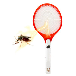 Wholesale Rechargeable Electric Insect Fly Killer - 1pcs Quality Rechargeable LED Electric Insect Bug Fly Mosquito Zapper Swatter Killer Racket 3-layer Net Safe Hot Sale