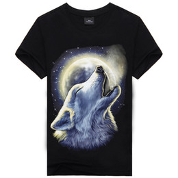Wholesale T Shirts Skull Men Wholesale - Hot sale Newest Fashion Top Sale High Quality Tops Tees Men's Cotton Short Sleeves T-shirt Casual Skull Wolf 3D Print T shirt M-XXXL