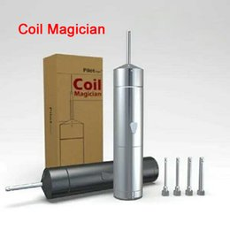Wholesale Ecig Automatic - PilotVape Coil Magician Clone Electrical Automatic Coil Jig 18350 Battery with 4 Coiling Poles Perfect Tool Kit For DIY Ecig RDA DHL FJ706