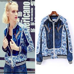 Wholesale Ladies Baseball Jackets - Original tide brand ladies 2017 autumn and winter embroidery jacket autumn short jacket female baseball clothing