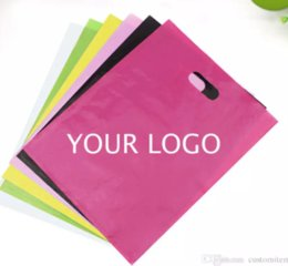 Wholesale Custom Printed Plastic Bags - other fee about plain color PE cloth bags blank shopping bags plastic packaging bag can custom print company design