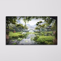 Wholesale cheap wall art pictures - Decorative Painting Picture Photos of Wall Print Art Modern Modular Painting Landscape Large Canvas Art Cheap Dropship