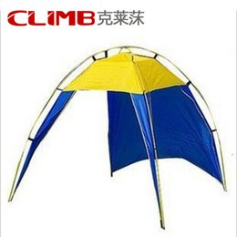 Wholesale Door Canopies - More than single-layer glass rod tent Outdoor leisure awning fishing Beach shade canopy Multifunction tent