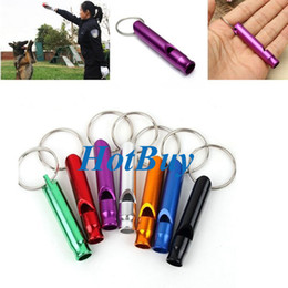 Wholesale survival keyring - Aluminum Alloy Whistle Keyring Keychain Mini For Outdoor Emergency Survival Safety Sport Camping Hunting #3900