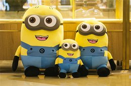Wholesale Despicable Plush 3d - 171217 Despicable me 2 Minions Dave Stuart Tim Mark 3D Plush doll toy September New Arrvial Hot Sell Christmas Gift For Children kids