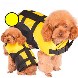 Wholesale Dog Floating - Hot Sales Small Dog Pet Life Jacket &Coat Puppy Safety Float Vest Life Preservers Comfortable Safety Clothes Pet Supplies JJ0119