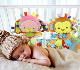 Wholesale Monkey Bedding - Happy Monkey Baby Rattle Soft Plush Toys Bibi Squeaker Inside Infant Calm Brinquedos Bed Bells Trolley  Crib Hanging Toy 0601559