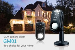 Wholesale Security Gsm Mms - Mini GSM MMS GPRS Alarm System PIR Motion Camera Wireless Security GSM Alarm Systems Infrared Night Vision TF Card APP Website Monitor