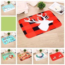 Wholesale Modern Area - Christmas Floor Mat 40*60CM Santa Elk Door Floor Mats Area Rug Kitchen Bedroom Decorative 33 Styles 300pcs OOA3272