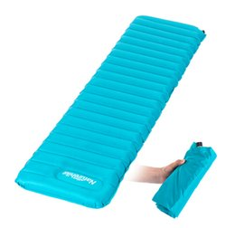 Wholesale Inflatable Mattresses - Naturehike Ultralight Manual Inflatable Hand Press Inflating Dampproof Sleeping Pad Outdoor Camping Tent Air Mat Mattress